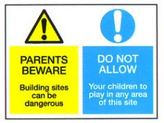 Parents Beware Do Not Allow Sign